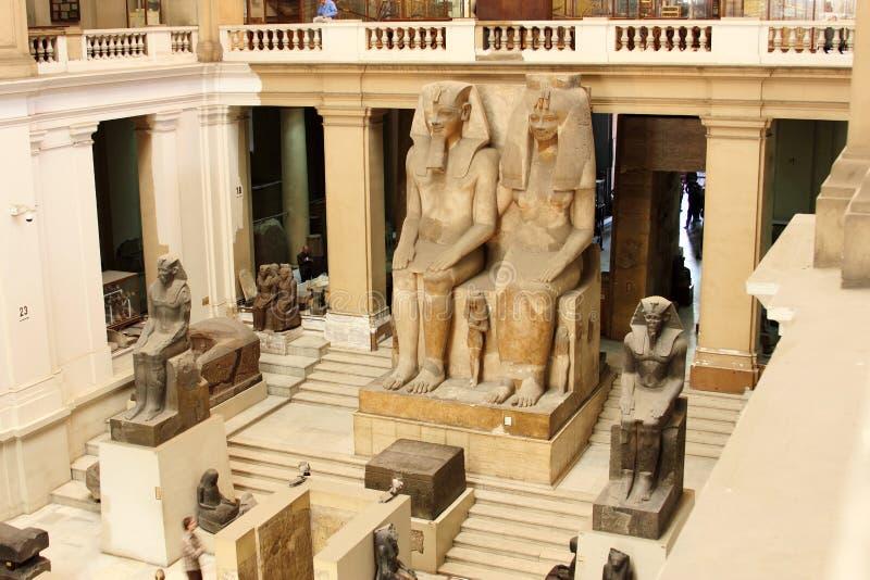 Det egyptiska museet från inre royaltyfria bilder