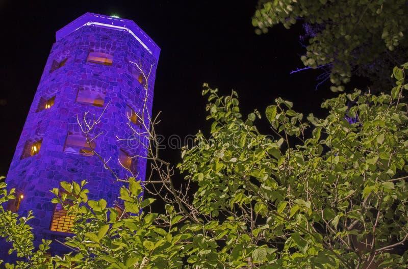 Det Enger tornet är en turist- destination och en scenisk sikt i Duluth, Minnesota royaltyfria foton