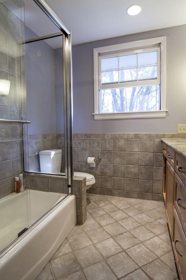 Det enkla badrummet omdanar royaltyfria bilder