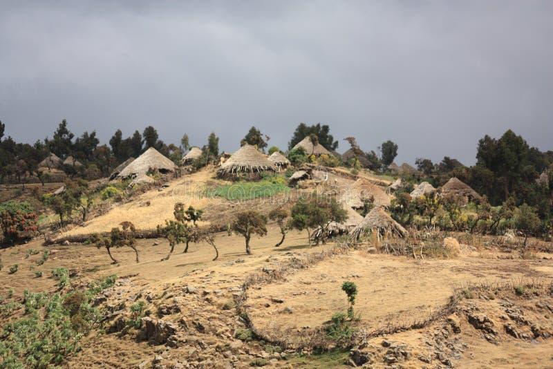 det ethiopia berg simien byn royaltyfri foto