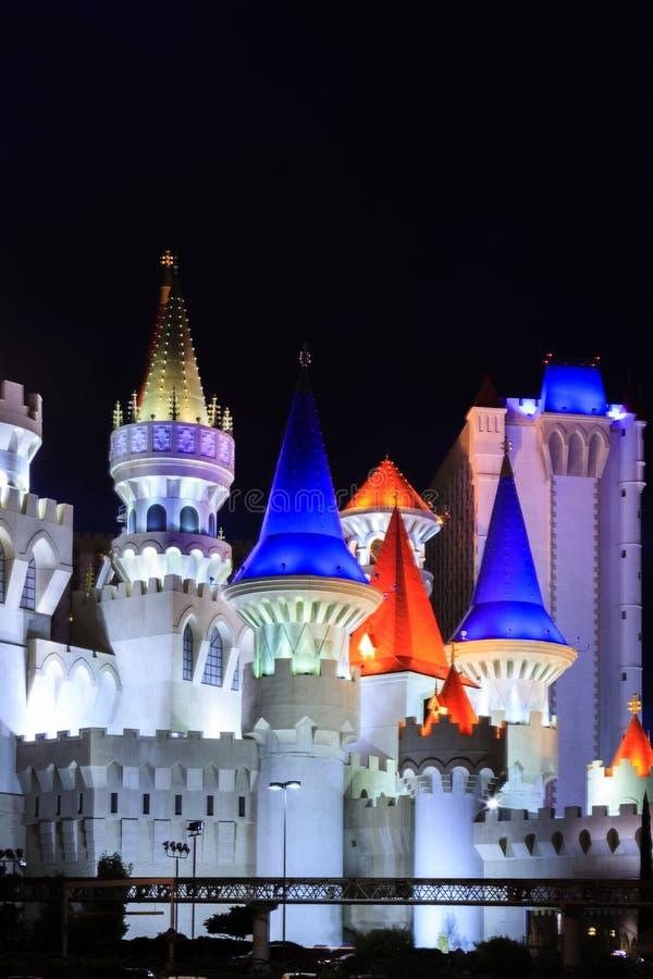 Det Excalibur hotellet och kasinot - i Vegas fotografering för bildbyråer