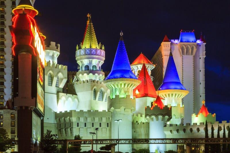 Det Excalibur hotellet och kasinot - i Vegas royaltyfri foto