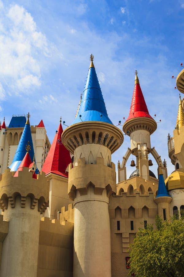 Det Excalibur hotellet och kasinot - Las Vegas fotografering för bildbyråer