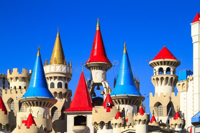 Det Excalibur hotellet och kasinot - Las Vegas royaltyfria foton