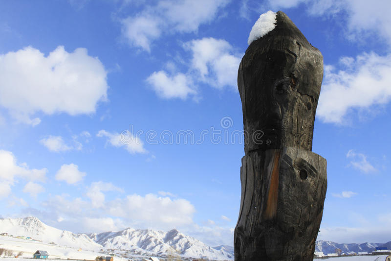 Det exploaterar för hästar i de Altai bergen arkivfoton