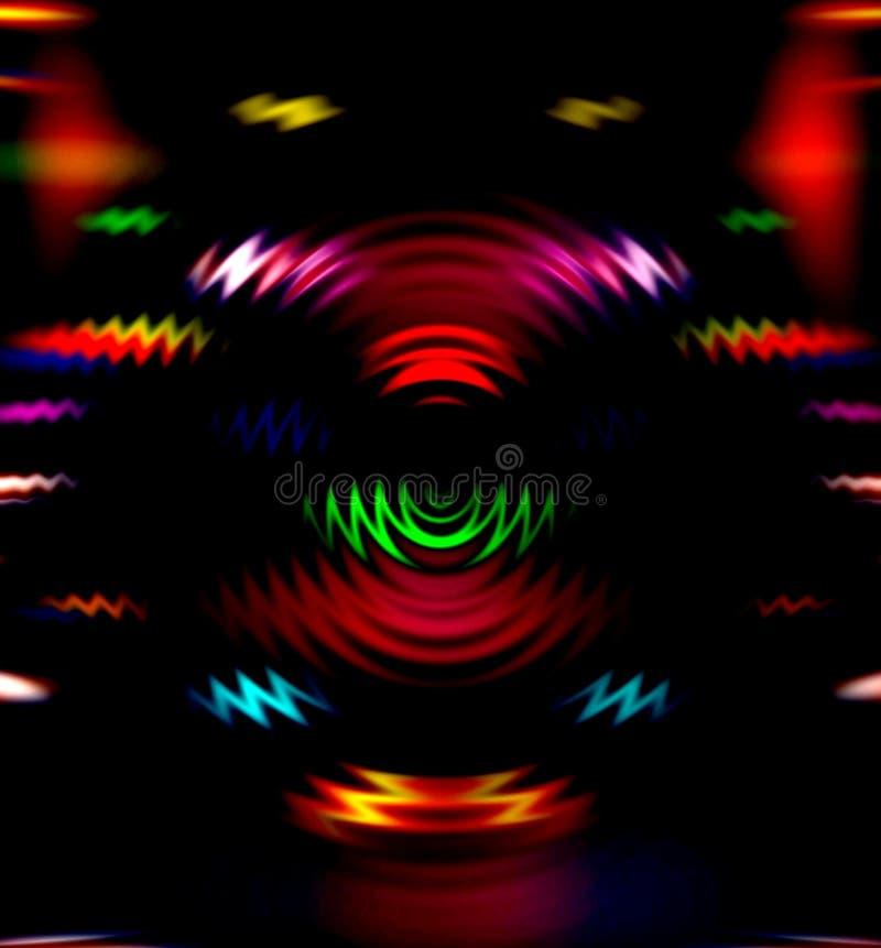 Det färgrika diskot tänder arkivfoto