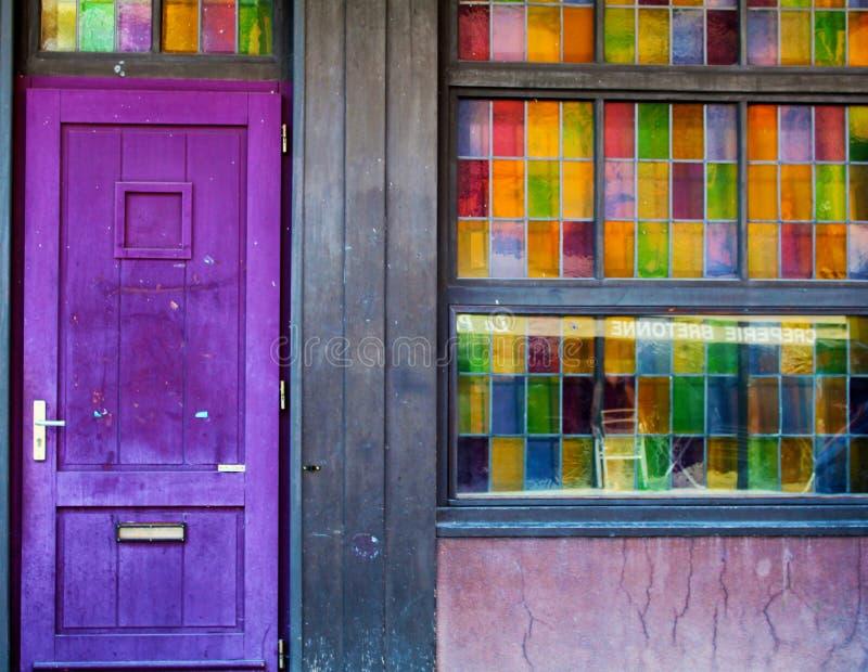 Det färgrika hemmet royaltyfria bilder