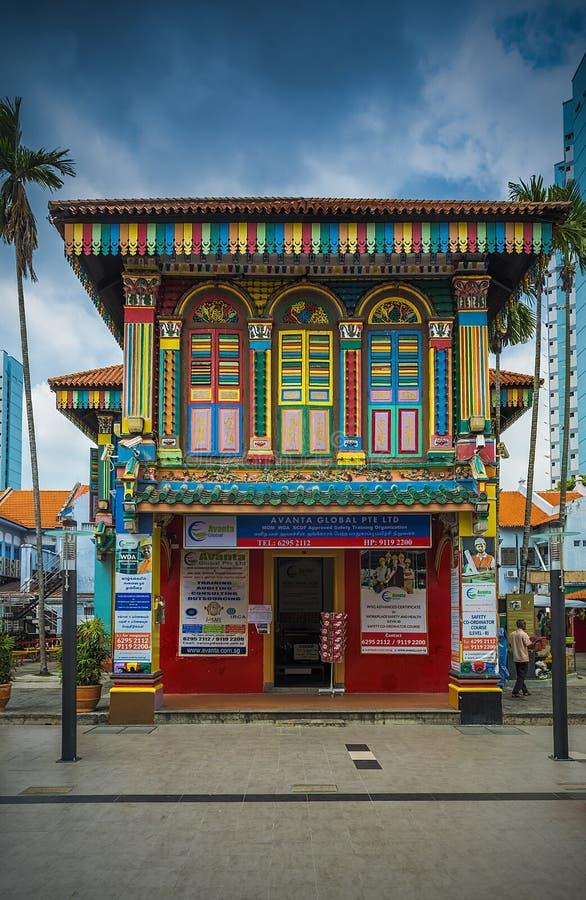 Det färgrika huset av Tan Teng Niah royaltyfri fotografi