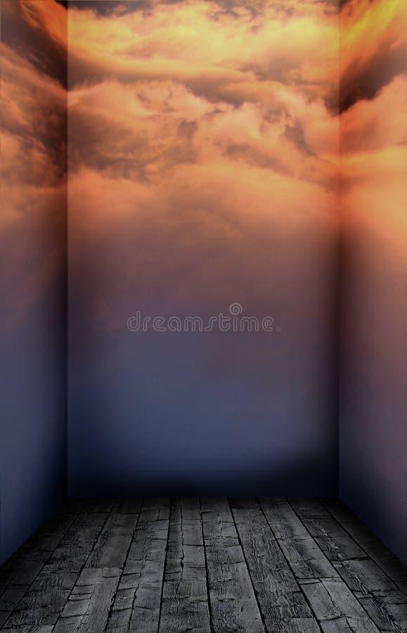 Det fördunklade rummet vektor illustrationer