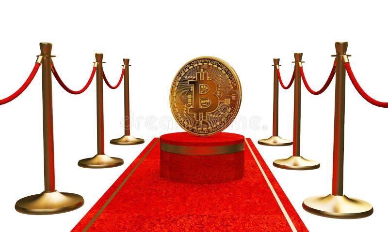 Det första diagramet i den guld- bitcoinen arkivbild