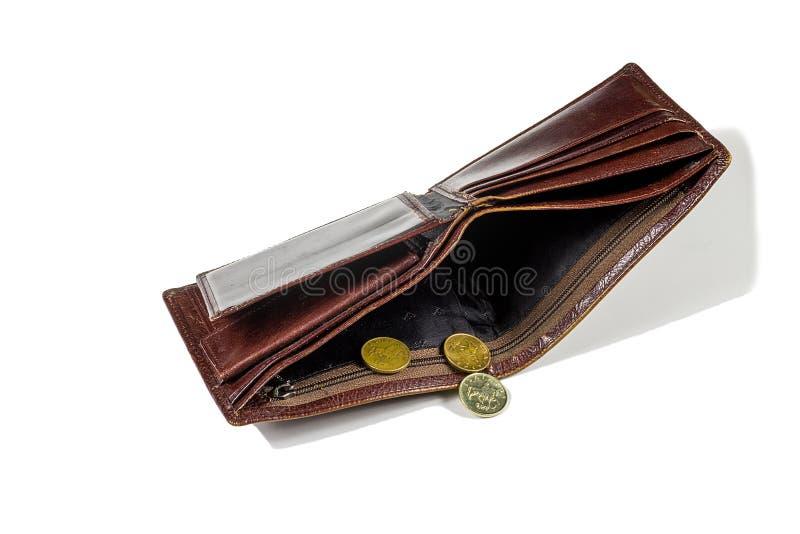 Det fattiga folket tömmer plånboken royaltyfri foto