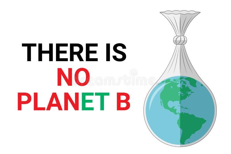 Det finns inte någon planet b - ekologiskt begrepp r royaltyfri illustrationer