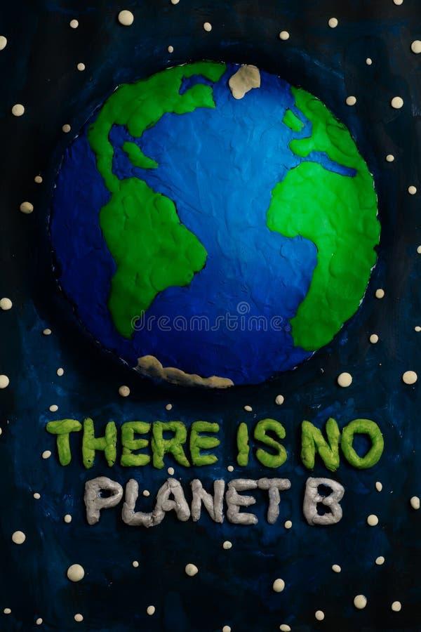 Det finns inte n?gon planet B Best?ndsdelar av denna avbildar m?blerat av NASA royaltyfri bild