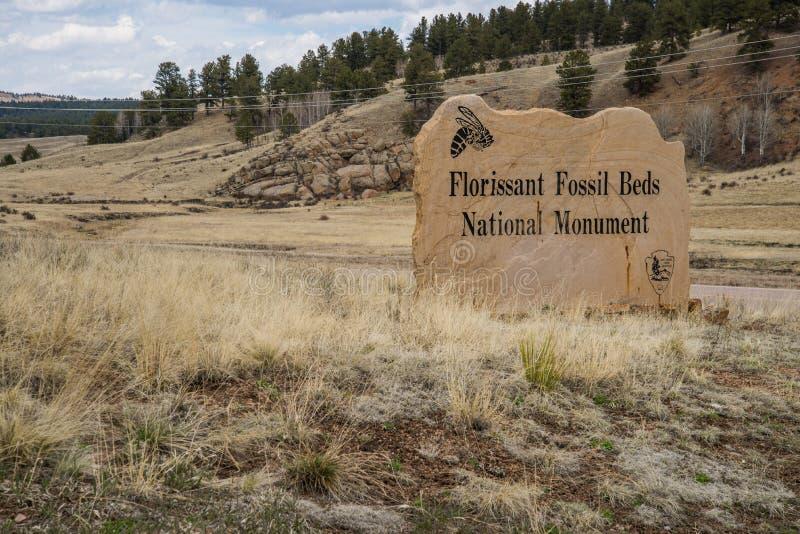 Det Florissant fossilet bäddar ned den nationella monumentet arkivfoto