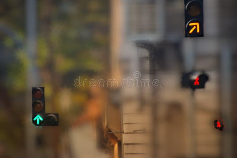 Det fokuserade staget, missa inte den högra signalen i ditt liv royaltyfri fotografi