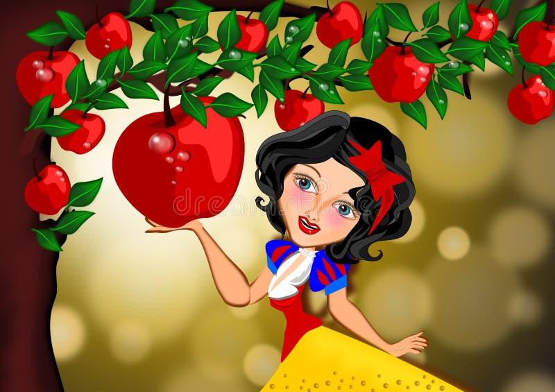 Det frestande rött royaltyfri illustrationer