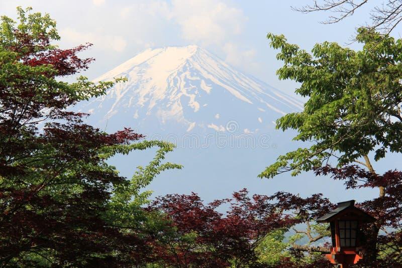 Det Fuji berget, UNESCOvärldsarv, är ett av den mest fa arkivfoton