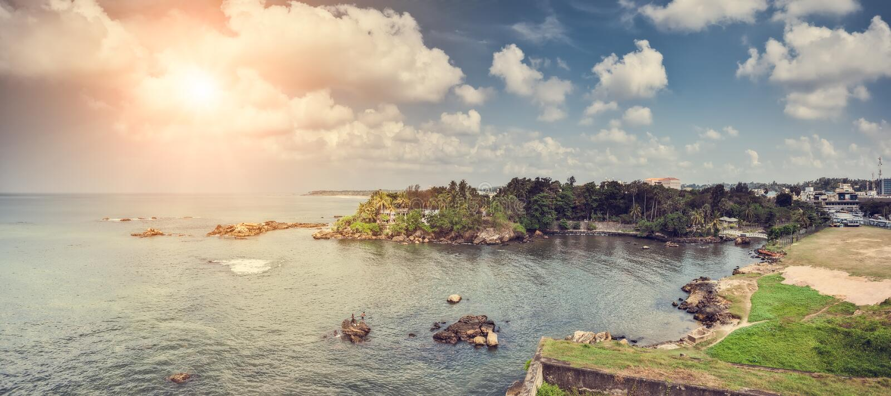 Det Galle fortet, Dutchs har konstruerat ett fort som och är nu ett arkivbilder