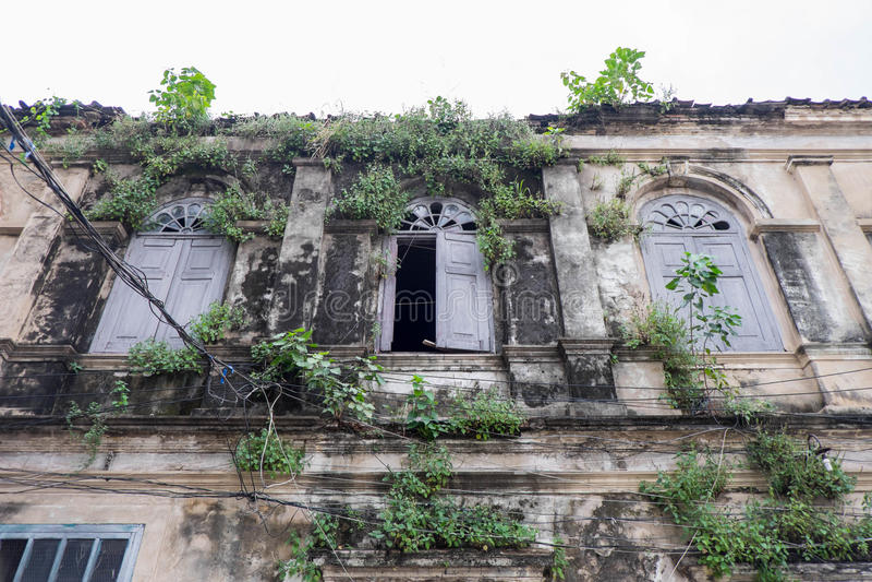 Det gamla eget huset, Thailand arkivbilder