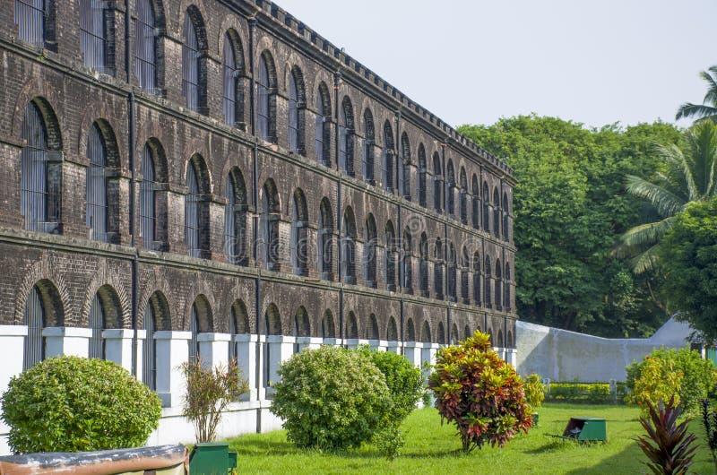 Det gamla fängelset för museum som Port Blair India royaltyfria foton