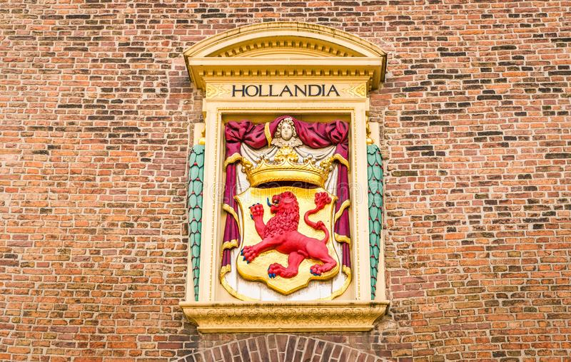 Det gamla fängelset undertecknar in Haag arkivbilder