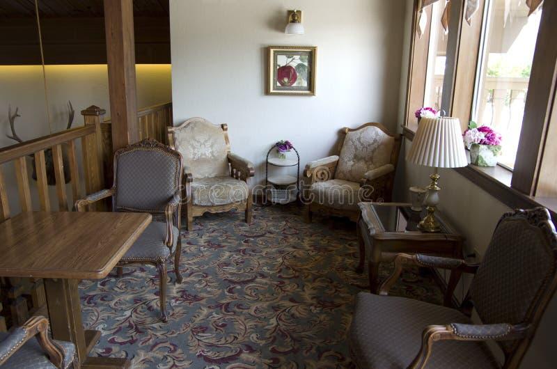 Det gamla hotellet vilar område fotografering för bildbyråer