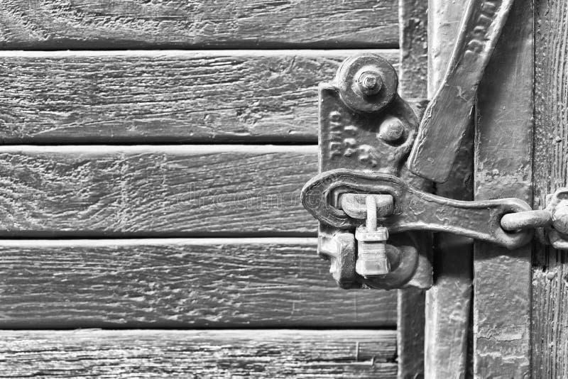 Det gamla låssystemet fotografering för bildbyråer
