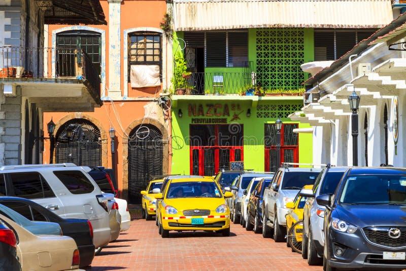 Det gamla Panamaet City arkivfoton