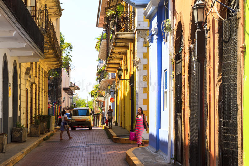Det gamla Panamaet City royaltyfri fotografi