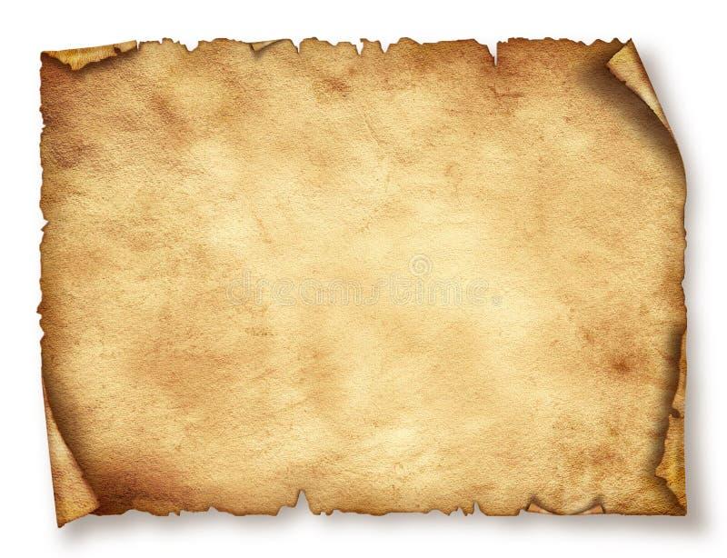Det gamla pappers- arket, tappning åldrades gammalt papper. royaltyfri illustrationer