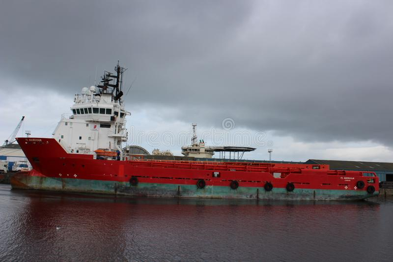Det gamla skeppet i Edinburg 2018 arkivbild