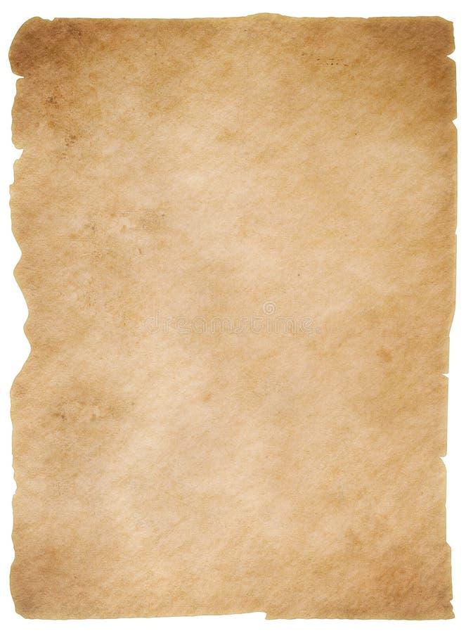 Det gamla slitna pappers- arket isolerade wirhurklippbanan inkluderade arkivbild