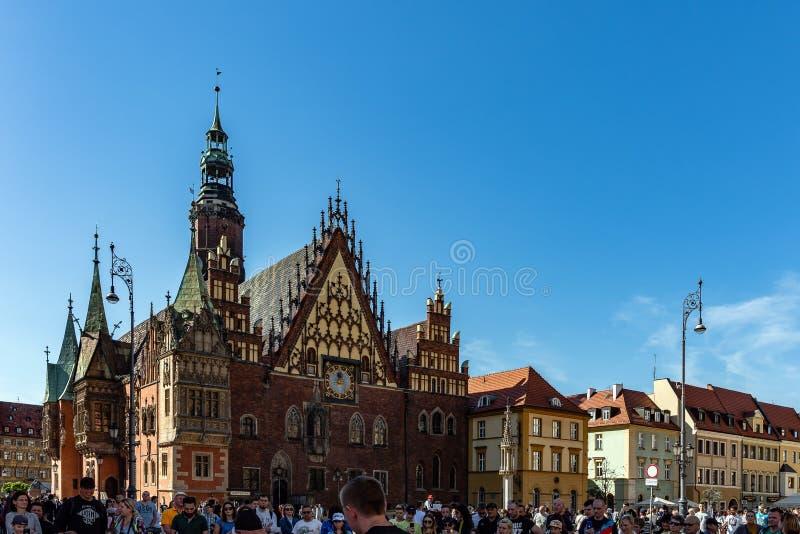 Det gamla stadshuset av Wroclaw royaltyfria foton