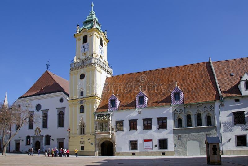 Det gammala stadshuset, Bratislava, Slovakien fotografering för bildbyråer
