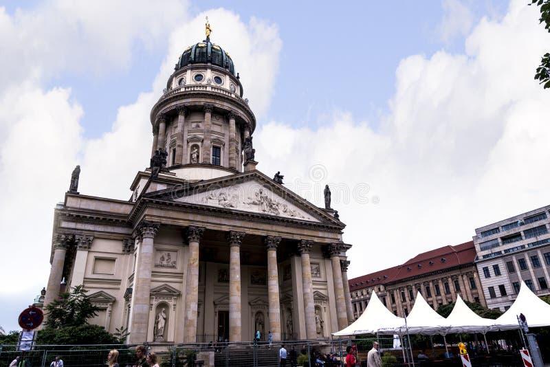Det Gendarmenmarket området av Berlin huvudstaden av Tyskland arkivfoton