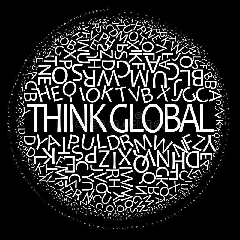 det globala begreppet tänker royaltyfri illustrationer