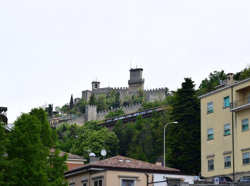 Det Guaita tornet, San Marino arkivbilder
