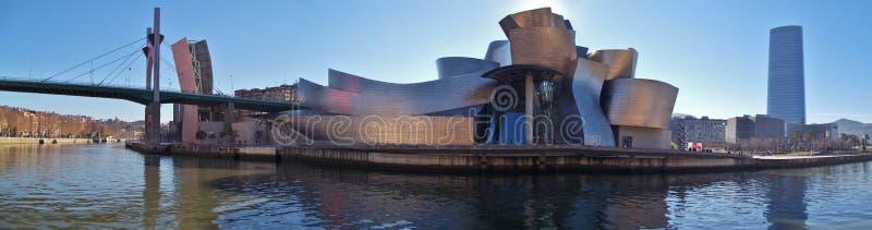 Det Guggenheim museet i Bilbao Spanien arkivfoton