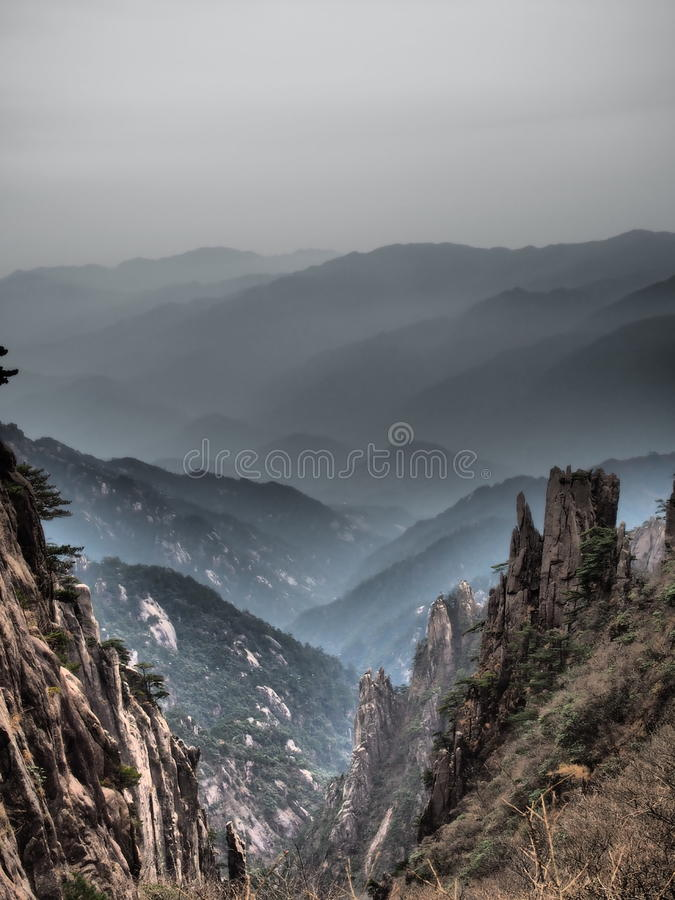 Det gula berget arkivbild