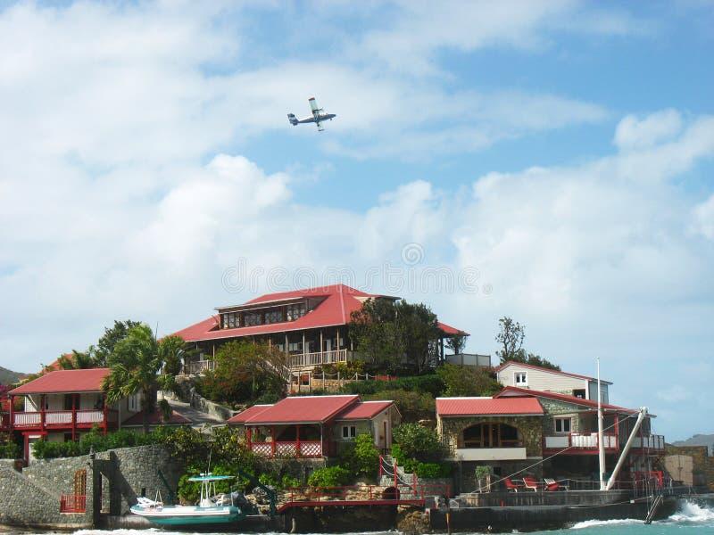Det härliga Eden Rock hotellet på St Barth, franska västra Indies royaltyfri foto