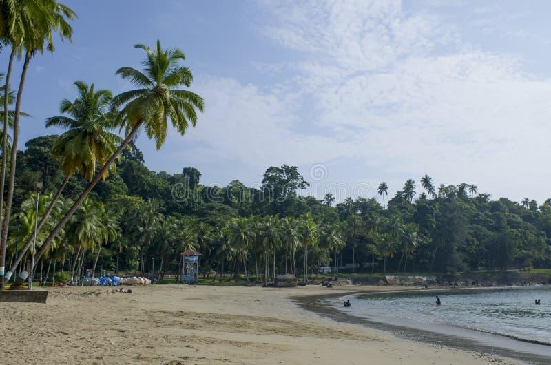 Det härliga landskapet skyddade den Andaman havsporten Blair India royaltyfri bild