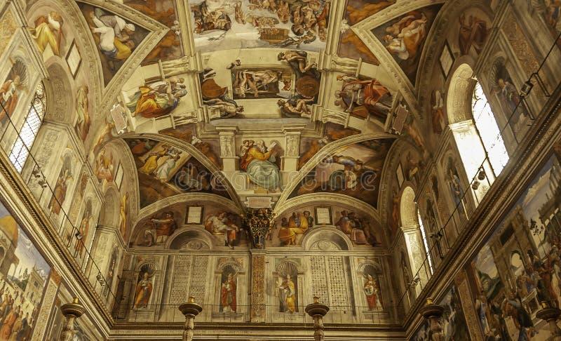 Det härliga Sistine kapellet arkivfoton