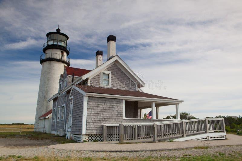 Det höglands- ljuset på Cape Cod, Massachsetts, USA arkivbild