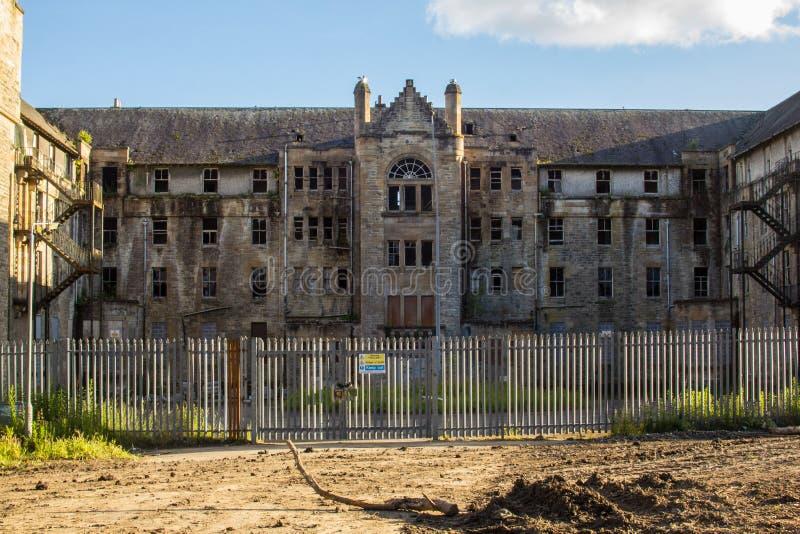 Det Hartwood sjukhuset, den övergav psykiatriska asylen, sjuksköterskor returnerar fotografering för bildbyråer