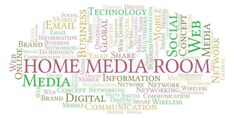 Det hem- massmedia hyr rum ordmolnet stock illustrationer