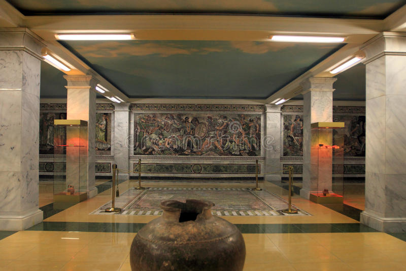 Det historiska museet av Sughd i den Khujand staden, Tadzjikistan arkivfoton
