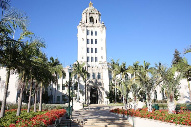Det historiska stadshuset av Beverly Hills i Kalifornien, USA arkivbild