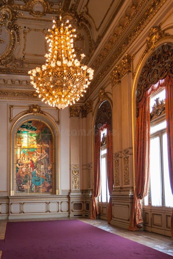 Det historiska Teatro kolonet i Buenos Aires arkivbilder