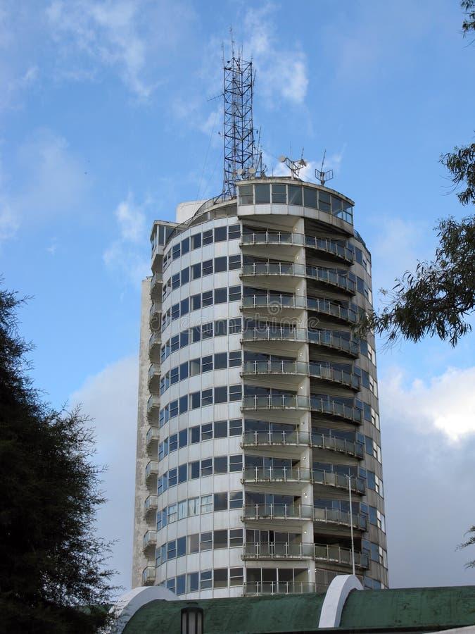Det Humboldt hotellet grundade i 1956 på överkanten av den Cerro El à en vila 2 105 mts ovanför staden av Caracas, Venezuela arkivfoto