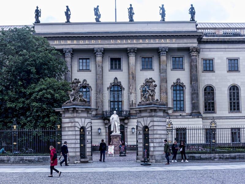 Det Humboldt universitetet var ursprungligen Berlin University arkivfoton